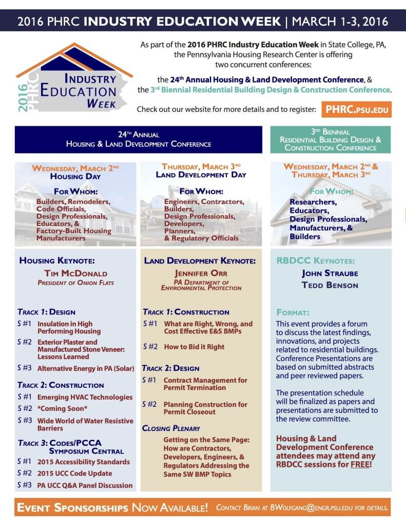 Pennsylvania Housing Research Center Conference - Housing Track