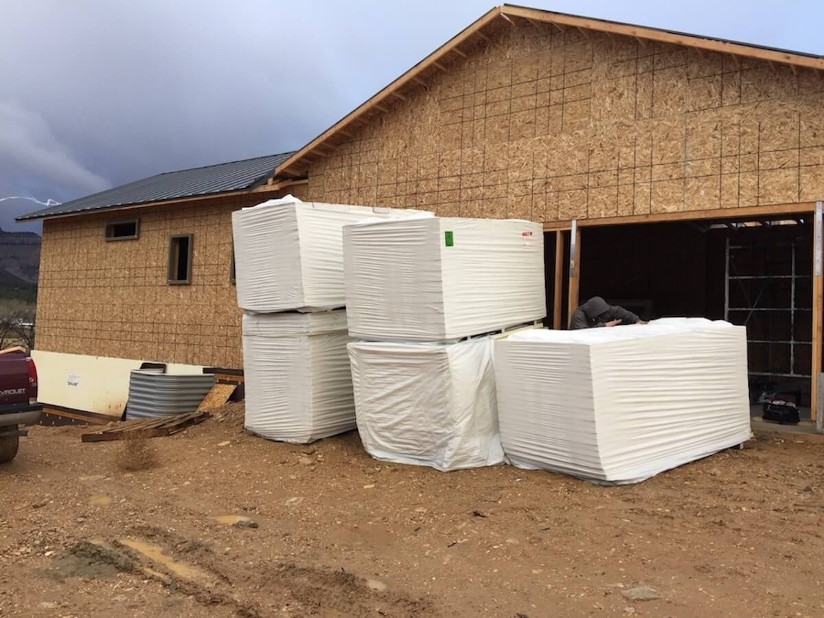 Polyiso ready to be installed