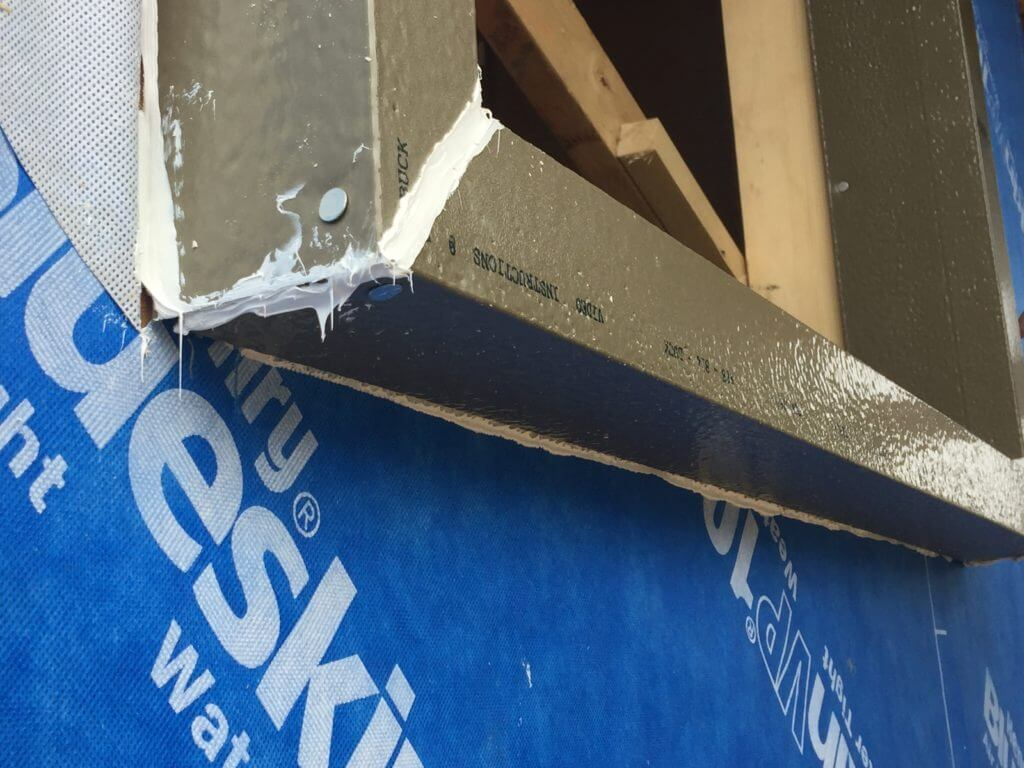 ThermalBuck installed with DAP Dynaflex 800 modified polymer sealant